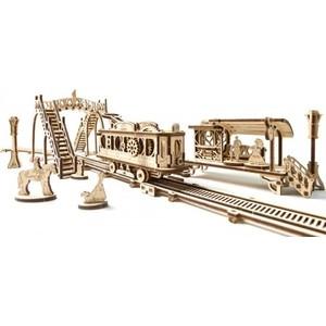 Конструктор 3D-пазл Ugears Трамвайная линия (70020) конструктор ugears 3d пазл фабрика роботов