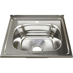 Кухонная мойка Mixline Накладная 50х50 с сифоном, нержавеющая сталь 0,6мм (4630030631392) фото