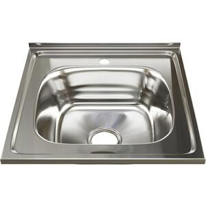Кухонная мойка Mixline Накладная 50х50 с сифоном, нержавеющая сталь 0,8мм (4630030631361)