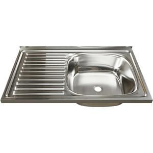 Кухонная мойка Mixline Накладная 80х50 правая 0,4 мм (4630030631729) цена
