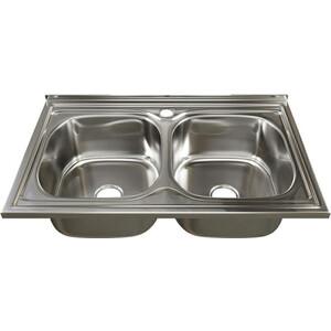 Кухонная мойка Mixline Накладная 80х50 с сифоном, нержавеющая сталь 0,6мм (4630030632351)