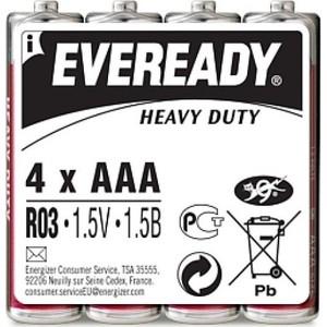Батарейка ENERGIZER солевая Eveready R03 мизинец 4шт