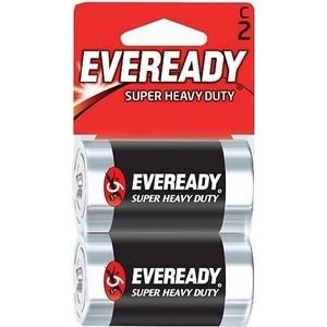 Батарейка ENERGIZER солевая Eveready С R14 2шт