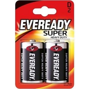 Батарейки Eveready Super Heavy Duty D/R20 (2шт)