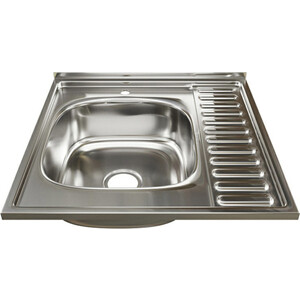 Кухонная мойка Mixline Накладная 60х60 с сифоном, нержавеющая сталь 0,6мм (4630030631484)