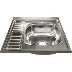 Кухонная мойка Mixline Накладная 60х60 с сифоном, нержавеющая сталь 0,6мм (4630030631514)