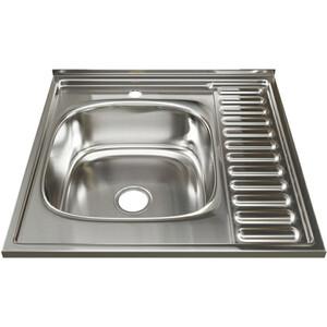 Кухонная мойка Mixline Накладная 60х60 с сифоном, нержавеющая сталь 0,8мм (4630030631606)