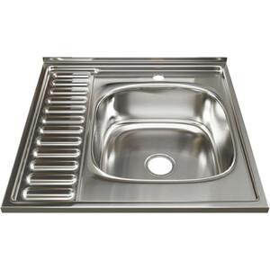 Кухонная мойка Mixline Накладная 60х60 с сифоном, нержавеющая сталь 0,8мм (4630030631637)