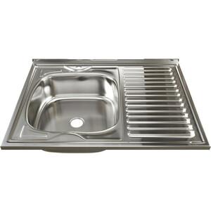 Кухонная мойка Mixline Накладная 80х60 нержавеющая сталь 0,4мм (4630030631309)