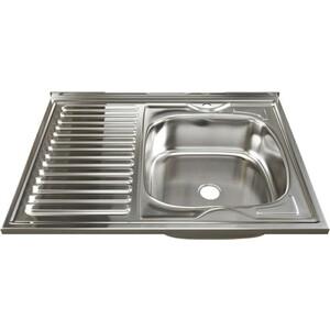 Кухонная мойка Mixline Накладная 80х60 правая 4630030631330) цена