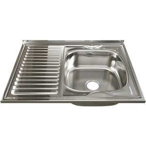 Кухонная мойка Mixline Накладная 80х60 с сифоном, нержавеющая сталь 0,8мм (4630030631903) фото