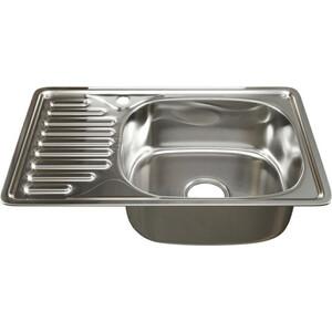 Кухонная мойка Mixline Врезная 42х66 с сифоном, нержавеющая сталь 0,6 мм (4630030632474)
