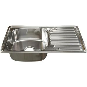 Кухонная мойка Mixline Врезная 42х76 с сифоном 0,6 мм (4630030632382) кухонная мойка mixline врезная 49x49 с сифоном 0 8 мм 4630030631965