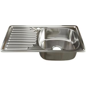 Кухонная мойка Mixline Врезная 42х76 с сифоном 0,6 мм (4630030632412) кухонная мойка mixline врезная 49x49 с сифоном 0 8 мм 4630030631965