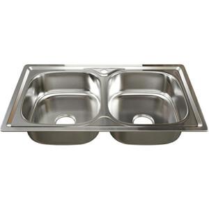 Кухонная мойка Mixline Врезная 46х81 с сифоном, нержавеющая сталь 0,8мм (4620031442455)