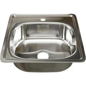 Кухонная мойка Mixline Врезная 48х48 с сифоном, нержавеющая сталь 0,6мм (4630030632085)