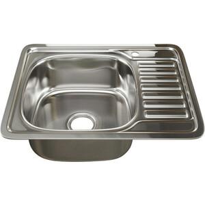 Кухонная мойка Mixline Врезная 48х58 с сифоном 0,6 мм (4630030632238) кухонная мойка mixline врезная 49x49 с сифоном 0 8 мм 4630030631965