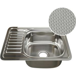 Кухонная мойка Mixline Врезная 58x48 декор, с сифоном 0,8 мм (4620031442424) кухонная мойка mixline врезная 49x49 с сифоном 0 8 мм 4630030631965