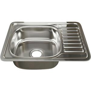Кухонная мойка Mixline Врезная 50х65 с сифоном 0,6 мм (4630030632269) кухонная мойка mixline врезная 49x49 с сифоном 0 8 мм 4630030631965