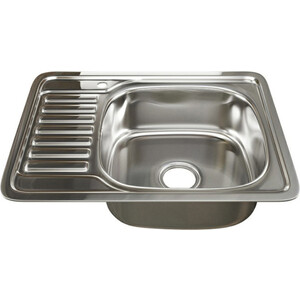Кухонная мойка Mixline Врезная 50х65 с сифоном 0,6 мм (4630030632320) кухонная мойка mixline врезная 49x49 с сифоном 0 8 мм 4630030631965