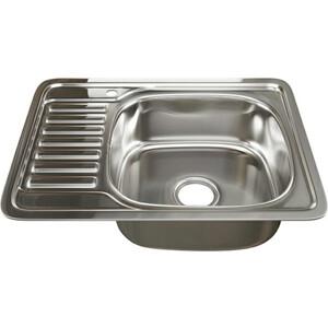 Кухонная мойка Mixline Врезная 65x50 с сифоном, нержавеющая сталь 0,8мм (4620031447238)