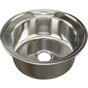 Кухонная мойка Mixline Врезная 51x51 с сифоном, нержавеющая сталь 0,8мм (4630030632023)