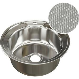 Кухонная мойка Mixline Врезная 51x51 с сифоном, нержавеющая сталь 0,8мм (4620031442400)