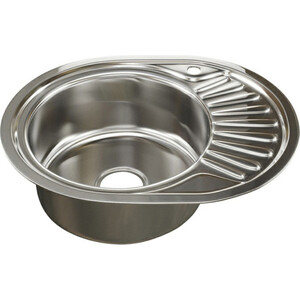 Кухонная мойка Mixline Врезная 45х57 с сифоном 0,6 мм (4630030632177) цена