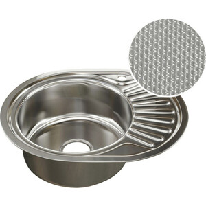 Кухонная мойка Mixline Врезная 57x47 с сифоном, нержавеющая сталь 0,8мм (4620031442363)