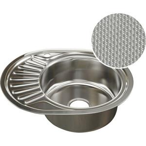 Кухонная мойка Mixline Врезная 57x47 с сифоном, нержавеющая сталь 0,8мм (4620031442370)