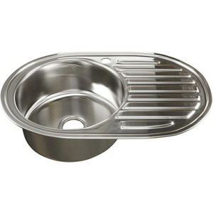 Кухонная мойка Mixline Врезная 50х77 с сифоном, нержавеющая сталь 0,6мм (4630030632115)