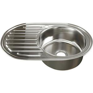Кухонная мойка Mixline Врезная 50х77 с сифоном, нержавеющая сталь 0,6мм (4630030632146)