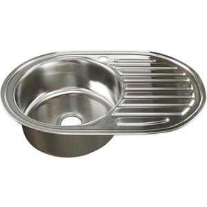 Кухонная мойка Mixline Врезная 77x50 с сифоном 0,8 мм (4620031447207) кухонная мойка mixline врезная 49x49 с сифоном 0 8 мм 4630030631965