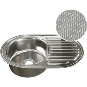 Кухонная мойка Mixline Врезная 77x50 декор, с сифоном 0,8 мм (4620031442387)