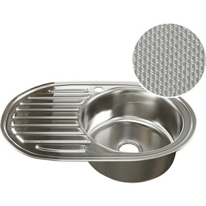 купить Кухонная мойка Mixline Врезная 77x50 с сифоном, нержавеющая сталь 0,8мм (4620031446149) дешево