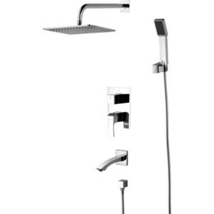 Душевая система Lemark Unit для ванны и душа, встраиваемый (LM4522C)