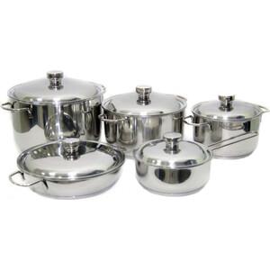 Набор посуды 10 предметов Амет Прима (1с895) набор посуды для приготовления амет классика прима металлическая крышка