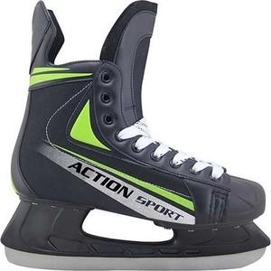 Коньки Action PW-434 хоккейные р. 44 коньки хоккейные action play pw 216y черный серый р 39