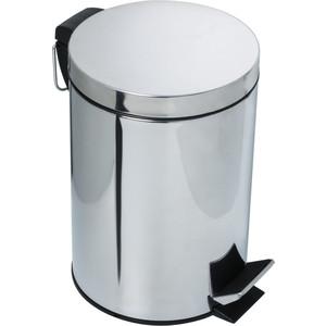 Ведро для мусора Fixsen Hotel с педалью 8 л, хром (FX-31024) контейнер для мусора полимербыт артлайн 8 л с педалью