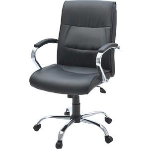 Кресло Фабрикант Стинг (кожа иск. ECO №16Н (черный) ТГ кр. Альфа (700) CH CH-4 ролик ст.)