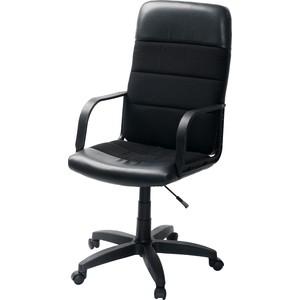 Кресло Фабрикант Чери Биг (кожа иск. DO №350 (черный) ткань мебельная ТК-1 ТГ PL 680 ролик ст.)