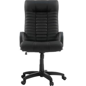 Кресло Фабрикант Атлант (кожа иск. DO №350 (черный) ТГ PL 680 ролик ст.)