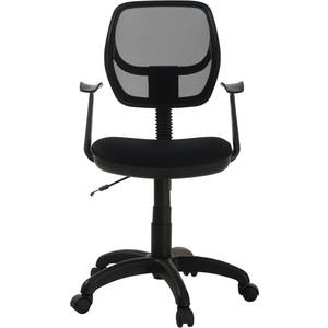 Кресло Фабрикант Степ (ткань мебельная ТК-1 (черный) ткань S №11 черный ПВМ PL 600 Т-подлокотник ролик ст.)