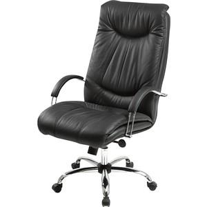 Кресло Фабрикант Свинг (кожа иск. ECO №16Н (черный) ТГ кр. Альфа (700)CH CH-4 ролик ст.)