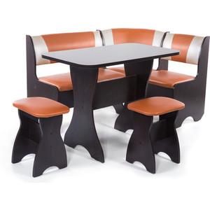 Набор мебели для кухни Бител Тюльпан - комби (венге с-120 + с-101 венге) цена и фото