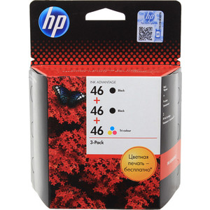 Картридж HP №46 multipack (F6T40AE)