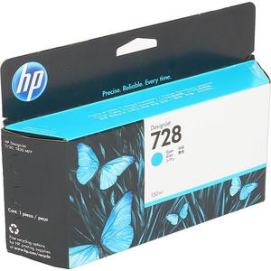 цена на Картридж HP F9J67A №728 голубой 130 мл.