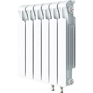 Радиатор отопления RIFAR MONOLIT VENTIL 500 6 секций биметаллический нижнее правое подключение (RM50006 НП50) фото
