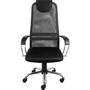 Кресло Алвест AV 142 CH (142 CH) МК кз/TW сетка/сетка односл 311/455/470 черн/черн/черная фото