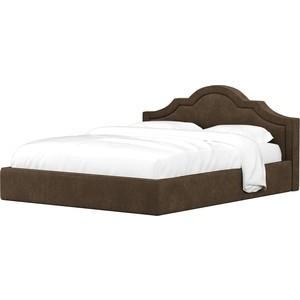 Кровать АртМебель Афина микровельвет коричневый
